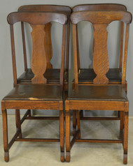 17783 Set of 4 Oak Empire Dining Chairs