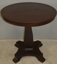 17859 Mahogany Empire Drum Table – 30 Inches Round