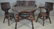 SOLD Rare Solid Oak Monastery Carved Parlor Suite