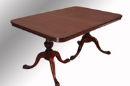 SOLD Antique Mahogany Duncan Phyfe Ball and Claw Dining Table