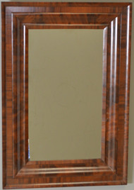 SOLD Period Empire Oversize Flame Mahogany Mirror