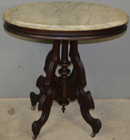 2944 Victorian Oval Marble Top Parlor Stand