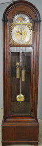 SOLD Mahogany Double Weight Grandfather Clock with Chimes