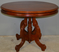 17407 Oversize Victorian Oval Walnut Parlor Stand