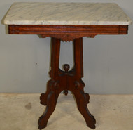 SOLD Antique Victorian Marble Top Parlor Stand