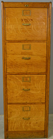 SOLD Oversize Extra Tall Oak Legal Size File Cabinet