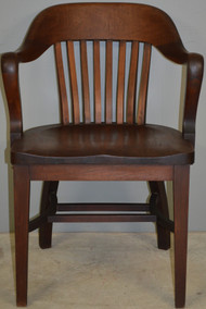 SOLD Mahogany Bankers Lawyers Arm Chair by Kramer