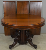 SOLD Victorian Split Pedestal Banquet Table – Opens 10 Feet!