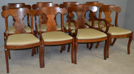 17906 Set of 8 Formal Empire Dining Chairs