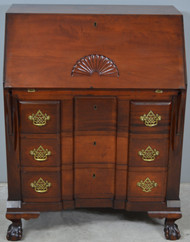 17908 Chippendale Block Front Custom Ball & Claw Centennial Desk