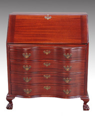 SOLD Mahogany Slant Top Governor Winthrop Secretary Desk