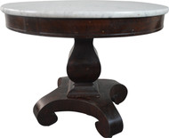 19823 Empire Mahogany Marble Top Round Center Table