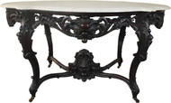 SOLD Rococo Victorian Carved Marble Top Center Table