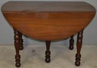 SOLD Solid Black Walnut Drop Leaf Dining Table – Civil War Era