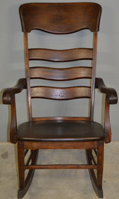 17922 Tall Oak Solid Seat Rocking Chair