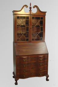 SOLD Mahogany Governor Winthrop Desk by Maddox