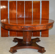 17899 Mahogany Empire Period Banquet Table – Opens 10 Feet