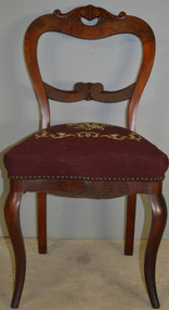 SOLD Needlepoint Civil War Era Ladies Desk Chair