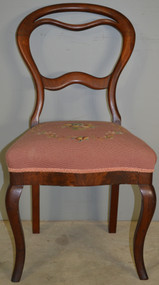 SOLD Victorian Needlepoint Ladies Desk Chair