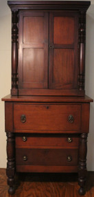 18306 Early Country Step Back Small Cupboard – Original Finish