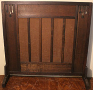 SOLD Mission Fireplace Screen - Unusual