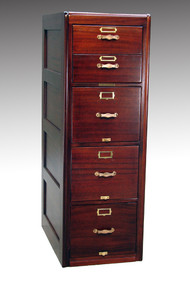 SOLD Antique Mahogany Library Bureau Unusual Five Cabinet – 5 Drawer