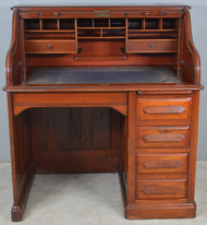SOLD Derby Victorian Cherry Roll Top Desk