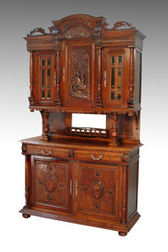 SOLD Carved Oak Buffet Cupboard