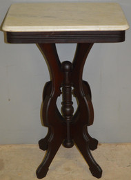 SOLD Marble Top Victorian Bedside Stand
