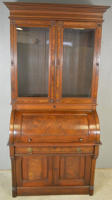 SOLD Victorian Walnut Cylinder Secretary Desk