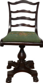 17983 Mahogany Ladies Swivel Desk Chair