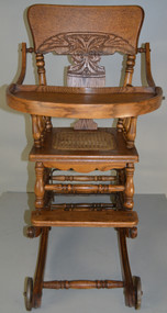 17992 Oak Children's Press Back Up and Down High Chair
