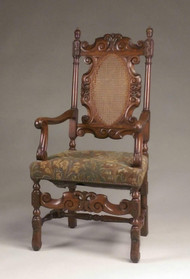 19874 Carved Oak Arm Chair