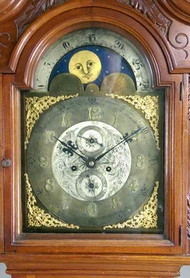 19871 Mahogany Grandfather Clock- Walter Durfee Style