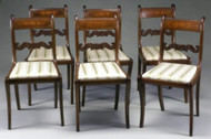 19849 Set of 6 Period Regency Dining Chairs