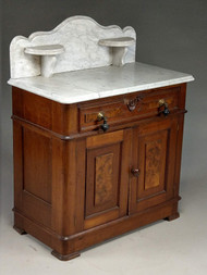 SOLD Antique Victorian Marble Top Commode