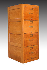 SOLD Oak Legal Size File Cabinet