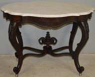 SOLD  Victorian Extra Fancy Civil War Era Marble Top Table
