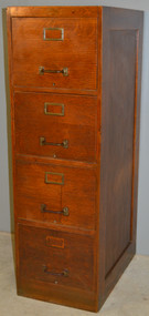 SOLD Oak Four Drawer File Cabinet