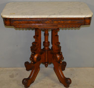 17541 Victorian Marble Carved Parlor Stand