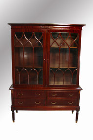 SOLD Mahogany Sheraton Step Back China Cabinet