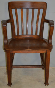 17545 Oak Lawyers Bankers Victorian Arm Chair