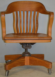 17873 Oak Bankers Lawyers Swivel Tilt Office Chair
