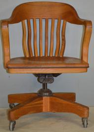 SOLD Oak Bankers Lawyers Swivel Tilt Office Chair
