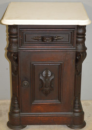 SOLD Victorian Pre- Civil War Marble Top Half Commode