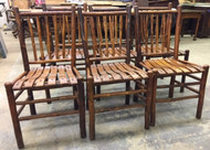 SOLD Set of Six Hickory Chairs