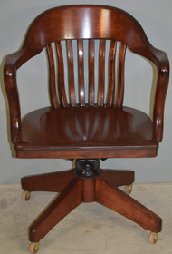 SOLD Antique Mahogany Bankers/Lawyers Swivel Tilt Office Chair