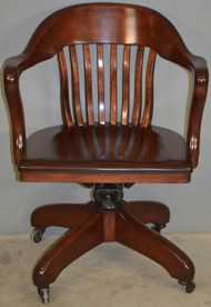 SOLD Mahogany Bankers/Lawyers Swivel Tilt Office Chair