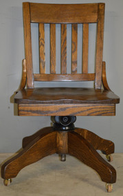 SOLD Oak Refinished Swivel Tilt Office Chair