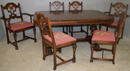 18649 Walnut Dining Room Table & Chairs by Berkey & Gay
